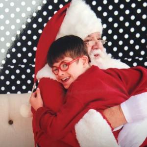 Carter and Santa