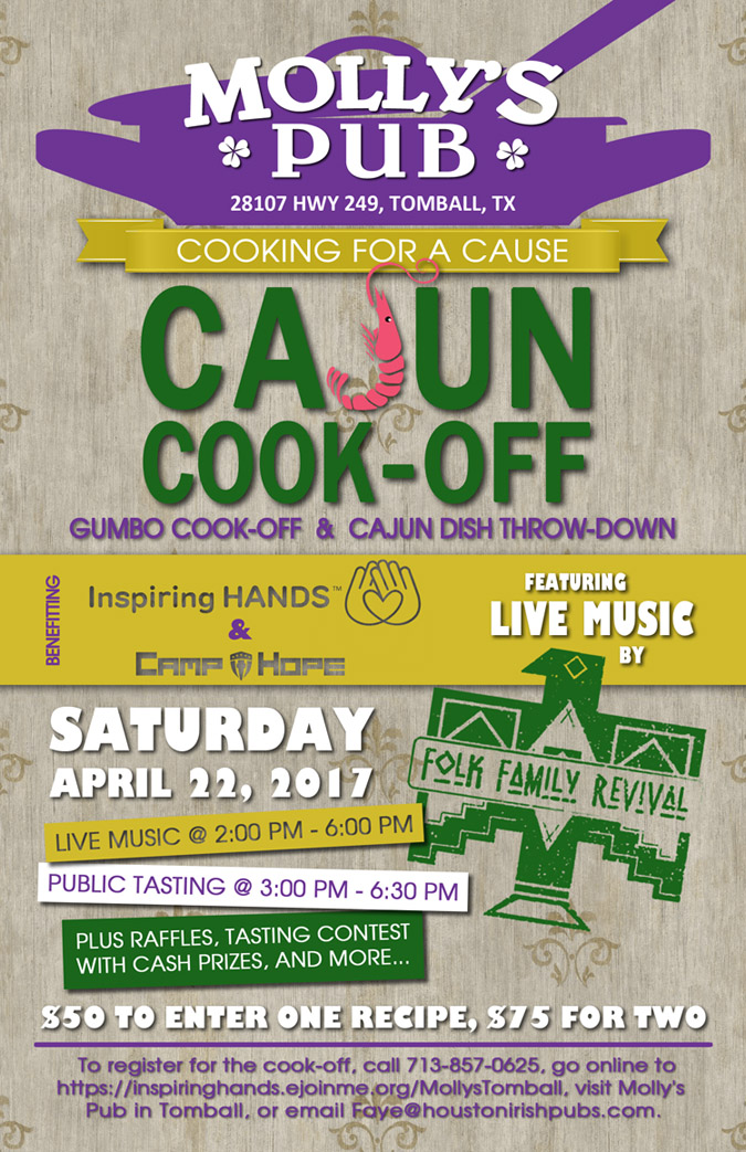 Cooking for a cause at molly s pub tomball inspiring hands for Cuisine for a cause